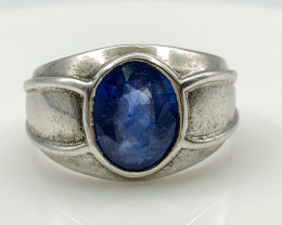 25.11 Crt Sapphire 925 Silver Ring