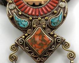 165 Crt Turquoise handmade Nepali Pendant