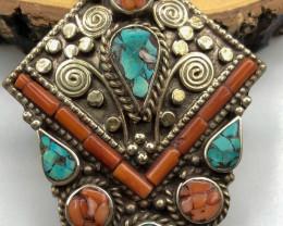 135 Crt Turquoise Handmade Nepali Pendant