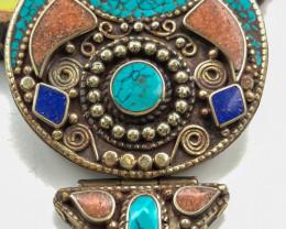 240 Crt Turquoise Handmade Nepali Pendant