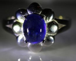 Blue Sapphire 3.50ct Platinum Finish Solid 925 Sterling Silver Ring