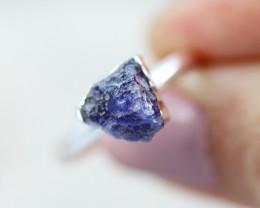 Throat Chakra Sodalite Gemstone Ring Size 6.5 - CH17