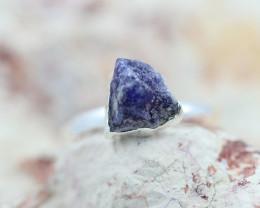Throat Chakra Sodalite Gemstone Ring Size 7 - CH18