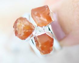 x3 Sacred Chakra Carnelian Gemstone Rings Size 5 - CH29