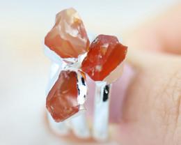 x3 Sacred Chakra Carnelian Gemstone Rings Size 6 - CH31