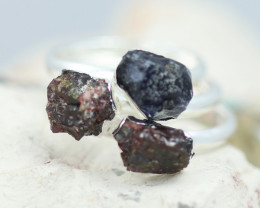 x3 Root Chakra Gemstone Rings Size 7 - CH41