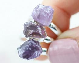 x3 Crown Chakra Amethyst Gemstone Rings  Size 5 - CH54