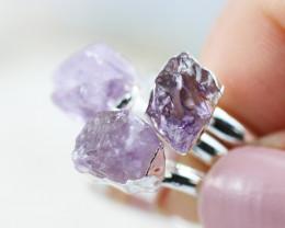 x3 Crown Chakra Amethyst Gemstone Rings 5.5 - CH55