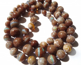 Stunning Australian Andamooka Boulder Opal Bead Necklace (z3338)