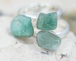 x3 Heart Chakra Gemstone Rings Size 5 - CH83
