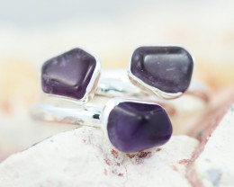 x3 Crown Chakra Gemstone Rings  Size 8.5 - CH94