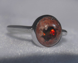 6.2sz Mexican Opal .925 Sterling Silver Ring