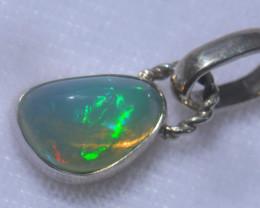 13.53ct .925 Sterling Ethiopian Welo Solid Opal Pendant
