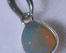 10.45ct .925 Sterling Ethiopian Welo Solid Opal Pendant