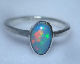 6.5sz .925 Sterling Ethiopian Welo Solid Opal Ring