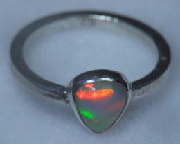 6.5sz .925 Sterling Ethiopian Welo Solid Opal Ring