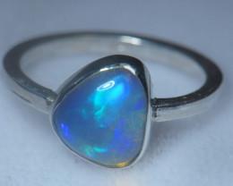7.5sz .925 Sterling Ethiopian Welo Solid Opal Ring