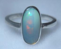 5.7sz .925 Sterling Ethiopian Welo Solid Opal Ring