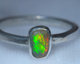 6.7sz .925 Sterling Ethiopian Welo Solid Opal Ring
