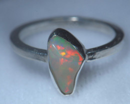 6.2sz .925 Sterling Ethiopian Welo Solid Opal Ring