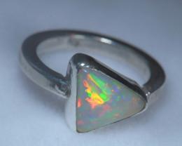 4.2sz .925 Sterling Ethiopian Welo Solid Opal Ring