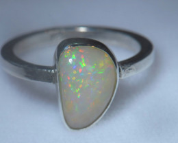 10sz .925 Sterling Ethiopian Welo Solid Opal Ring