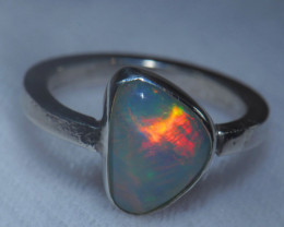 7.5sz .925 Sterling Ethiopian Welo Solid Opal Ring
