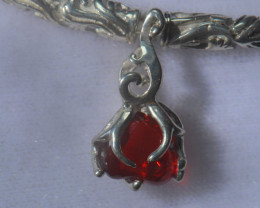 .925 Sterling Mexican Opal Silver Pendant
