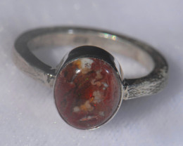 .925 Sterling Mexican Opal Silver Ring