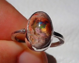 6sz Mexican Taxco Opal .925 Sterling Silver Ring