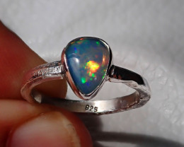 7sz Natural Welo Opal .925 Sterling Silver Ring