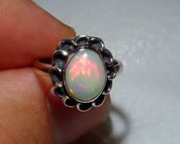 3sz Natural Welo Opal .925 Sterling Silver Ring