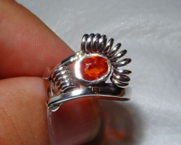 8.5sz Mexican Opal .925 Sterling Silver Ring
