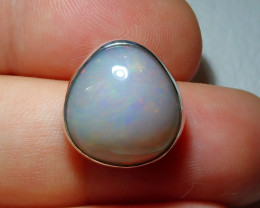 13.68ct Natural Ethiopian Welo Opal .925 Sterling Silver Pendant