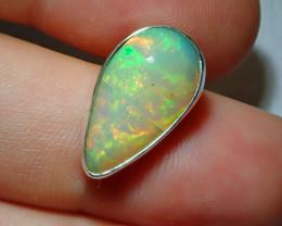 9.01ct Natural Ethiopian Welo Opal .925 Sterling Silver Pendant Specimen