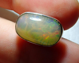 13.88ct Natural Ethiopian Welo Opal .925 Sterling Silver Pendant