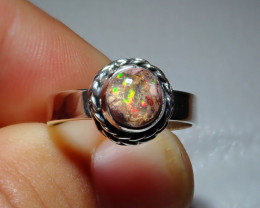 7sz Mexican Taxco Opal .925 Sterling Silver Ring