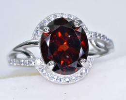 22.10 Crt Natural Garnet 925 Sterling Silver Ring AB (01)