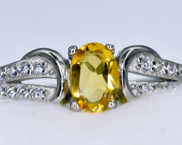 14.99 Crt Natural Citrine 925 Sterling Silver Ring AB (01)