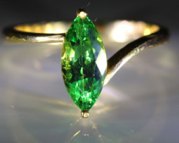 Tsavorite Garnet 1.90ct Solid 22K Yellow Gold Solitaire Ring