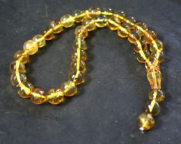 Genuine Dominican yellow amber prayer beads misbaha tasbih mala 10mm