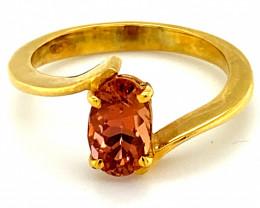 Rare Red Tanzanite 1.35ct Solid 18K Yellow Gold Ring