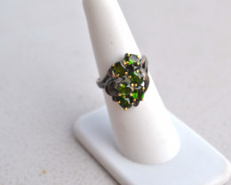 Fantastic Chrome Dioside in Sterling Silver Ring