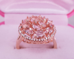 Morganite Ring in High Quality Natural Stones