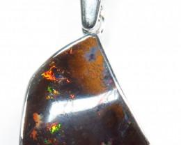 Queensland Boulder Martix Opal Freeform Hand Made 925 Silver