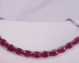 Glass Filled Ruby Bracelet