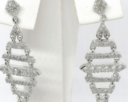Natural Diamond Drop Earrings 0.54 TCW