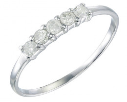 Stunningly Delicate Engagement White Gold Diamond Ring