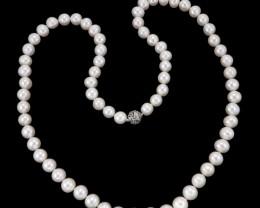Stylish Ivory Fresh Water Pearl Opera Necklace  (33 Inch)