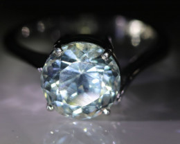 Aquamarine 3.75ct Solid 18K White Gold Ring
